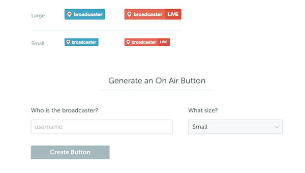 Periscope Website Button