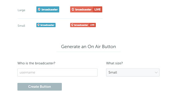 Periscope Web Button