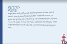 Facebook Parents Portal