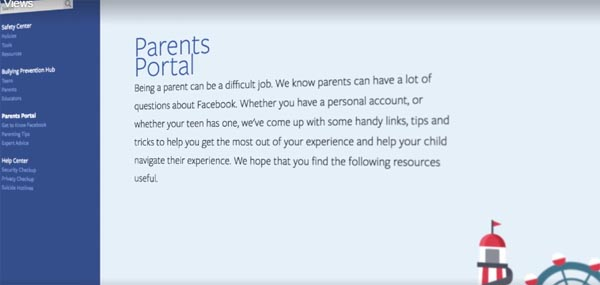 Facebook Parents Portal